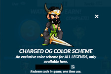 Brawlhalla Charged OG Color Scheme Code, 500+ Reviews, DELIVERY IN MINUTES!!!