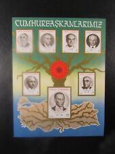 1987 Turkey  SC #2396 PRESIDENTS   MNH Souvenir Sheet