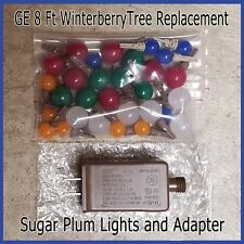 Ge 8 Ft Winterberry Christmas Tree Replacement Sugar Plum Bulbs & Adapter