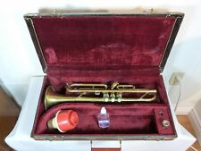 ESQUIRE TRUMPET + CASE + SELMER MUTE + OIL + V. BACH 5C MOUTH PIECE