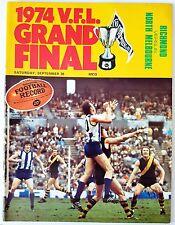 VFL Football Record 1974 GRAND FINAL RICHMOND TIGER Premiers Souvenir Program [A