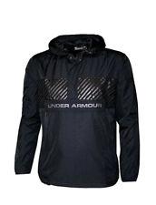 Under Armour Men's Windbreaker Shell Pullover Hooded Jacket Hoodie Black Medium