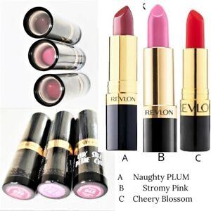 REVLON SUPER LUSTROUS LIPSTICK- STORMY PINK / CHERRY BLOSSOM / NAUGHTY PLUM