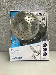 Moen 26010SRN Engage Handheld Rain Shower Showerhead Magnetix 3-in-1