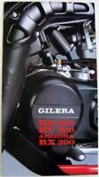 GILERA RX200, RV200 Arizona RX200 Original Motorcycle Sales Brochure Italian