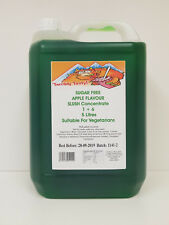 SUGAR FREE SLUSH SYRUP 4x5 LTR Green Lime & Lemon Incd 200 Spoon Straws