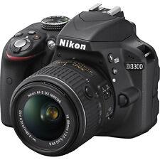 Nikon D3300 24.2 MP CMOS Digital SLR Camera + 18-55mm VR II Lens Kit Black New!