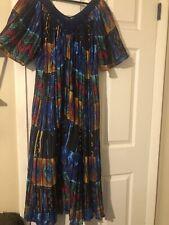 Ashley Taylor Sleepwear Womens Night Gown Mumu Crinkle Dress Sz 2x? Multicolor