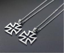 Halskette MIT Anhänger Kreuz Silber 55cm Kette für Herren Damen Edelstahl Unisex