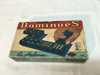 Double Nine DOMINOS by Halsam   Vintage 1940s Buy Liberty Bonds on Box