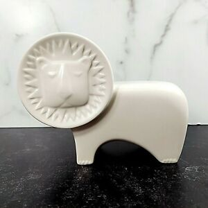 Jonathan Adler PartyLite Lion Candle Holder Votive White Ceramic MCM Design EUC