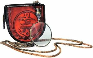 Leather box Magnifying Glass, Optical Magnifier Lens with A Beautiful jewellery