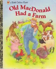 OLD MACDONALD HAD A FARM - LITTLE GOLDEN BOOK - CLASSIC BABY TODDLER HARDBACK