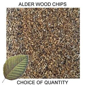 Quality Alder Wood Chips for Smoking Ovens, Smoker Dust - All Sizes - FAST POST!