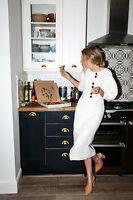 Mango Committed Linen Blend Organic Button Julia Midi Dress UK S M Bloggers