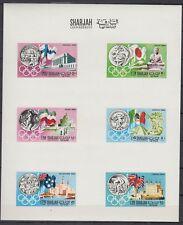 Sharjah 1968 ** Mi.496/01 de Luxe-sheet, Olympische Spiele Olympic Games