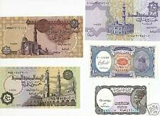 2008 Egypt 5 Notes Uncirculated Paper Money