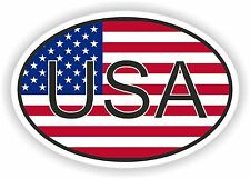 OVAL USA UNITED STATES WITH FLAG STICKER AUTO MOTO TRUCK LAPTOP BIKE TABLET CAR