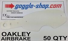 50 qty GOGGLE-SHOP MOTOCROSS TEAR OFFS to fit OAKLEY AIRBRAKE GOGGLES flippers