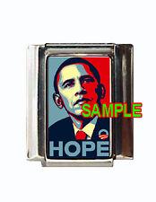 Barack Obama HOPE Custom Italian Charm Portrait Photo
