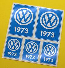VW 1973 VOLKSWAGEN Year Date stickers INSIDE GLASS BEETLE BAY WINDOW CAMPER