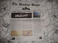 BANKSY BUGLE SALE CATALOGUE FROM THE STEALING BANKSY EXHIBITION - ballon boy art