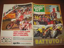 MOTOSPRINT 1978/26 BARRY SHEENE PROVA HONDA 400T PUBBLICITA' APRILIA