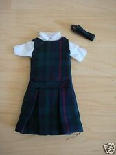 NIP 3 pc SCHOOL UNIFORM Dress Jumper Outfit Clothes for Barbie doll PLAID #98