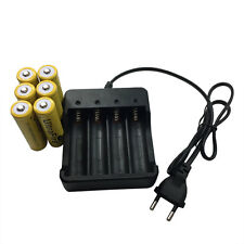 6 X 18650 3.7V 9800mAh Li-ion Rechargeable Battery + 4.2V EU Charger