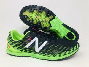 New Balance Men's XC 700 V5 Spike Running Shoe, Thunder/Lime, 12.5 D(M) US