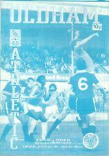 OLDHAM ATHLETIC V EVERTON F.C 1981/82 PRE SEASON FRIENDLY PROGRAMME