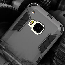 For HTC ONE M9 Hybrid ShockProof Armor Protective Case Cover w/ Stand + Screen