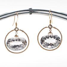 Circle Dangle Earrings in 14k Yellow Gold