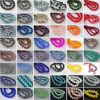 20pcs 12mm Big Rondelle Faceted Charms Crystal Glass Loose Spacer Beads Findings