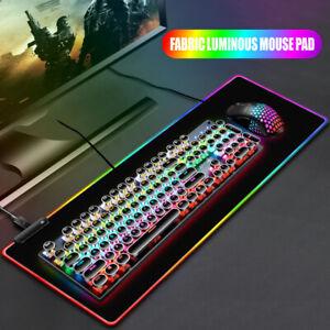 RGB Gaming Mousepad USB LED Gaming Maus Pad Laptop Verdickung PC Bunte 800*300MM