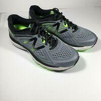 New Balance Men's 860V8 Mens Running Shoes Grey With Green & Black 9.5
