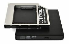 Opticaddy SATA-3 HDD/SSD Caddy+DVD Gehäuse Dell Studio 1537 1555 1557 1558 1559