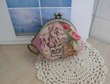 4X Pink Vintage Rose Coin Bags  Change Purse