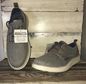 Skechers Status 2.0 Pexton 65910 Sneaker Men's Size 7.5 Taupe A/C Memory Foam 🚭