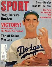 1964 (Feb.) Sport Magazine, Baseball, Sandy Koufax, Los Angeles Dodgers ~ FrML