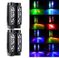 2PCS 8 LED Spider Beam Moving Head Stage Lighting RGBW DMX DJ Disco Club Lights