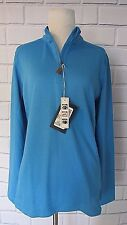 NWT Devon & Jones Ladies Quarter-Zip Pullover DG479W Sweatshirt Blue Navy Sz M