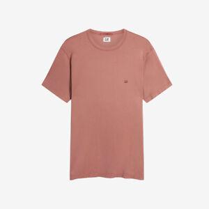 C.P. Company Logo Print Mako T-Shirt - Roan Rouge/Pink