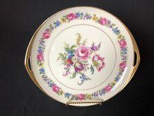"Rosenthal Ivory Bavaria Sorrent 10&3/8"" Round Platter With Handles Floral"