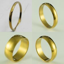 2 4 6 8 10mm Stainless Steel Mens & Womens Wedding Band - New Gold Unisex Ring
