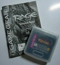 Primal Rage Sega Game Gear Cart Case and Manual Fast Shipping Worldwide!!!