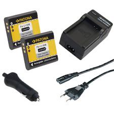 2x Batteria Patona + caricabatteria casa/auto per Ricoh DB-100