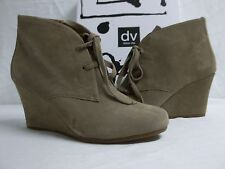 6feabb27e8f2 Dolce Vita Size 10 M Pellie Taupe Suede Ankle BOOTIES Wedges Womens Shoes