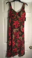 "Madison Leigh NWT 100% Rayon Brown Multicolor Sleeveless Summer Dress Size ""6"""