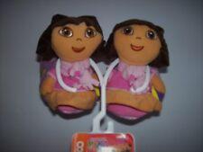 Dora Slippers Girls Toddler Sz 7-8 Sock Top Gripper Dot Bottom Purple New